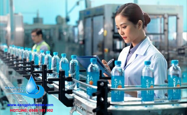 Quy trình sản xuất nước uống đóng chai satori 1500ml