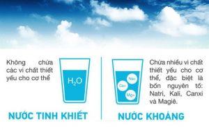 Sự khác biệt giữa nước tinh khiết và nước khoáng