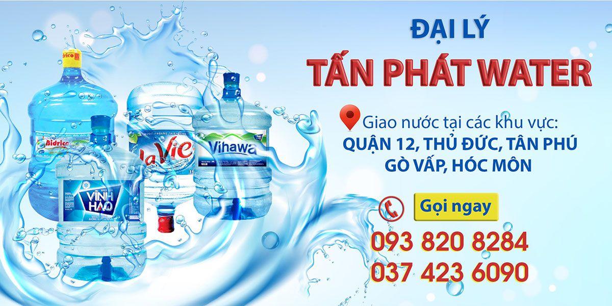Đại lý nước uống đóng bình quận 12 Tấn Phát Water